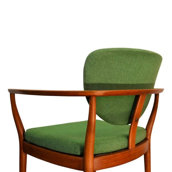 Vintage Deens design Finn Juhl stijl teak fauteuil