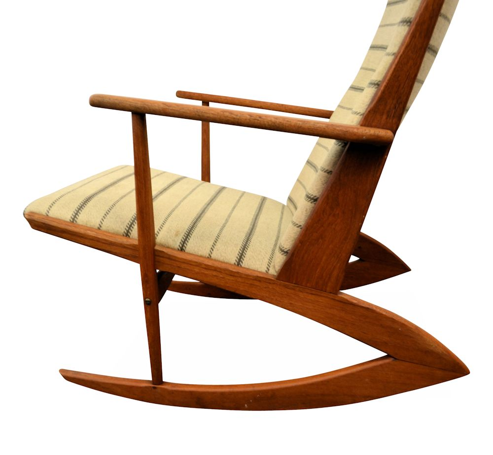 Vintage Holger Georg Jensen Model 97 Rocking Chair - side