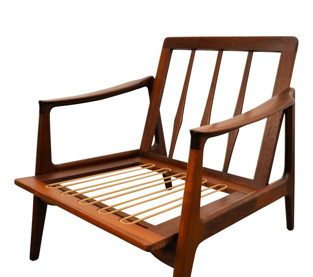 Danish Modern Arne Vodder Style Lounge Chair - frame and webbing