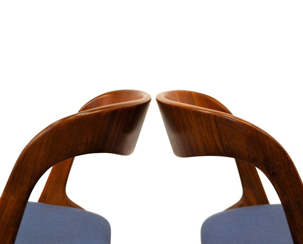 Teak Vamo Sønderborg Dining Chairs - side detail
