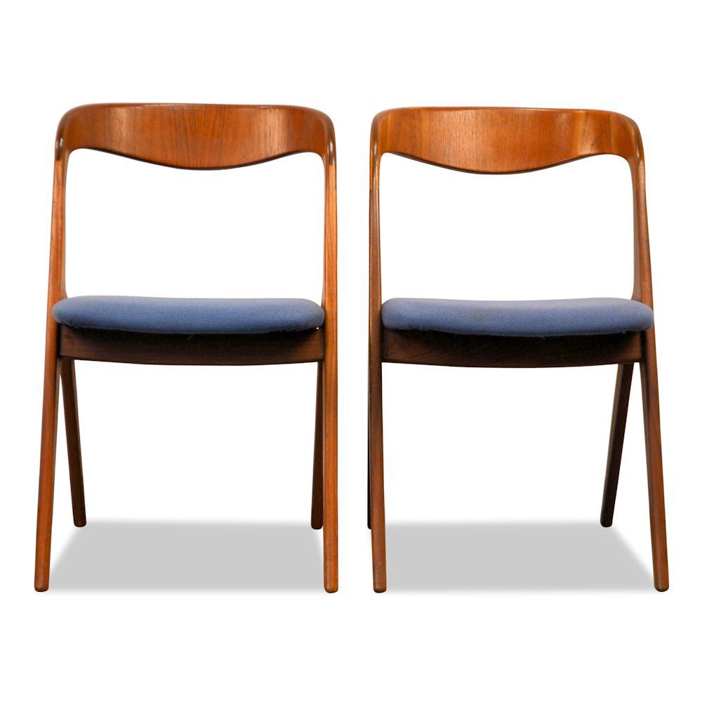 Teak Vamo Sønderborg Dining Chairs - front