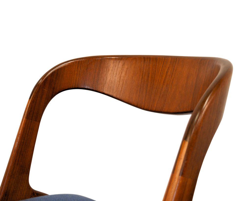 Teak Vamo Sønderborg Dining Chairs - detail backrest