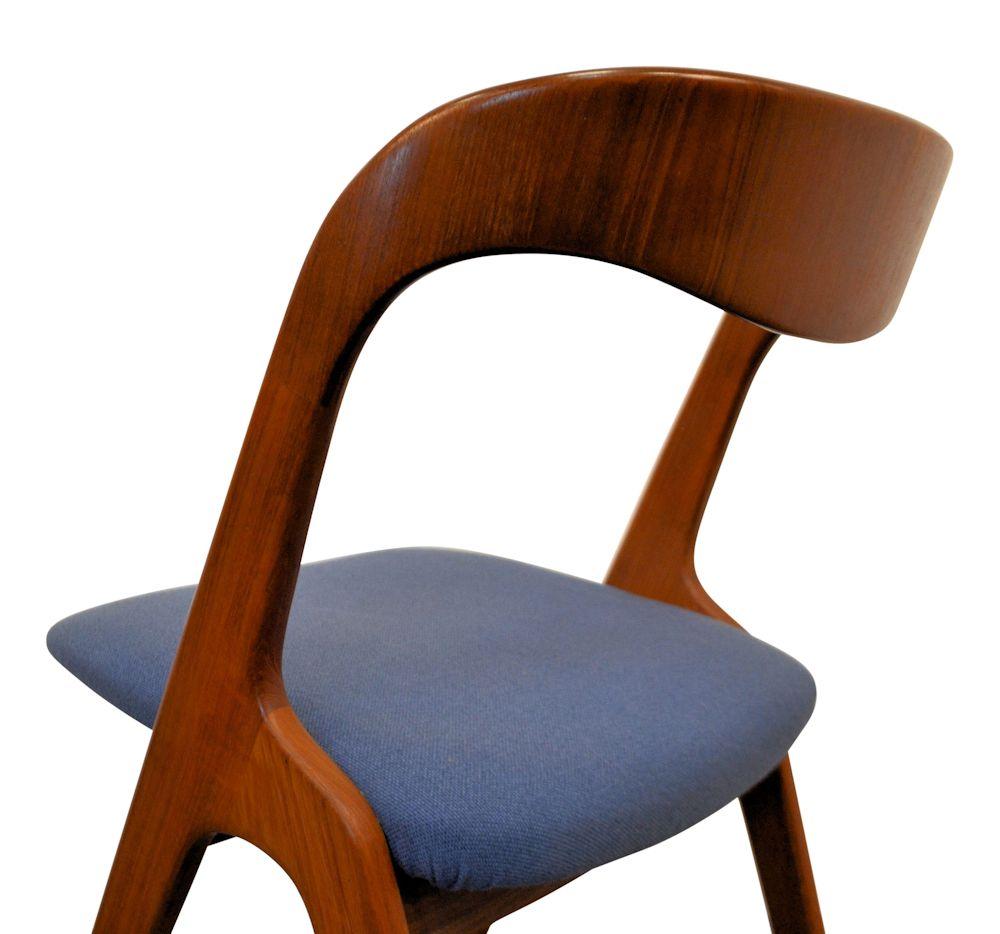 Teak Vamo Sønderborg Dining Chairs - back