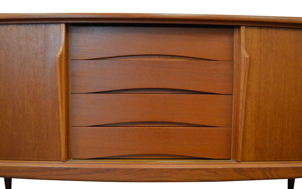Teak Gunni Omann Jr. Sideboard - detail drawers