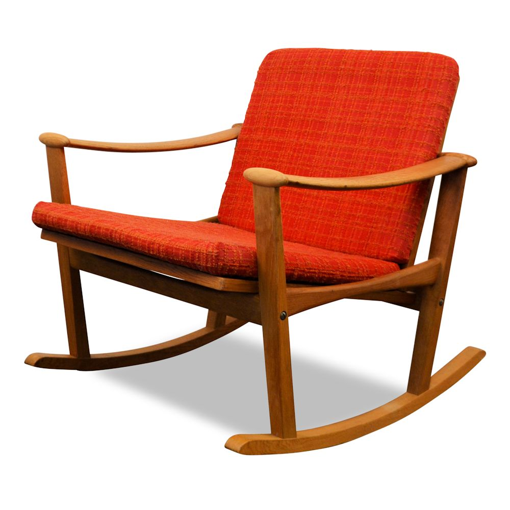 Finn Juhl Oak Rocking Chair