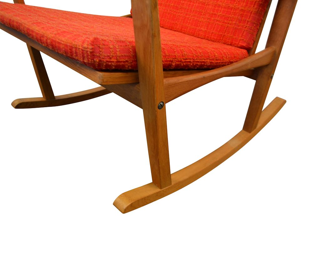 Finn Juhl Oak Rocking Chair - base