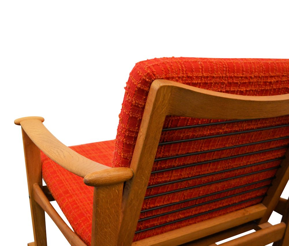 Finn Juhl Oak Rocking Chair - detail back