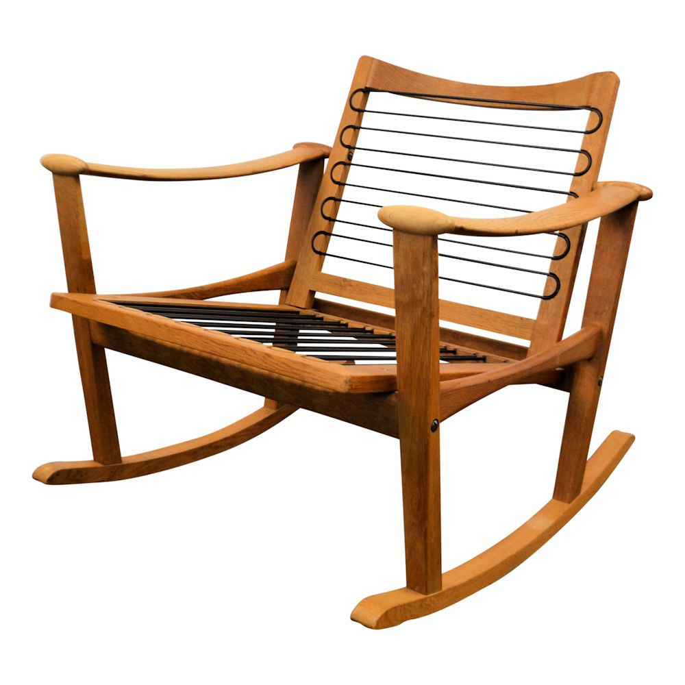 Finn Juhl Oak Rocking Chair - frame