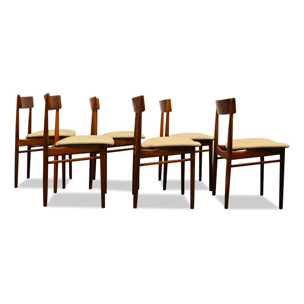 Rosewood Henri Rosengren Dining Chairs - side