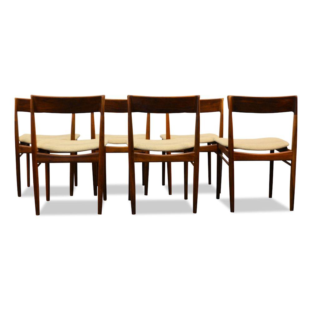 Rosewood Henri Rosengren Dining Chairs - back