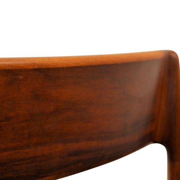 Henry Rosengren rosewood stoelen (detail)