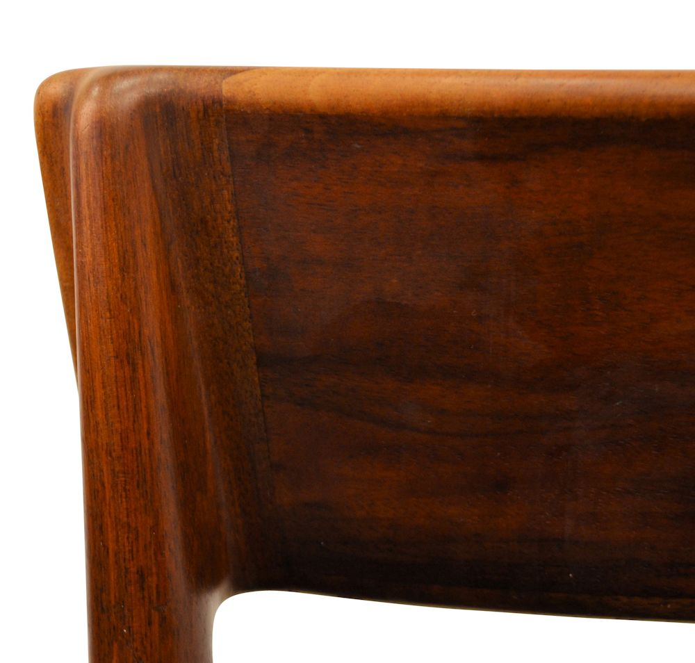 Rosewood Henri Rosengren Dining Chairs - detail backrest