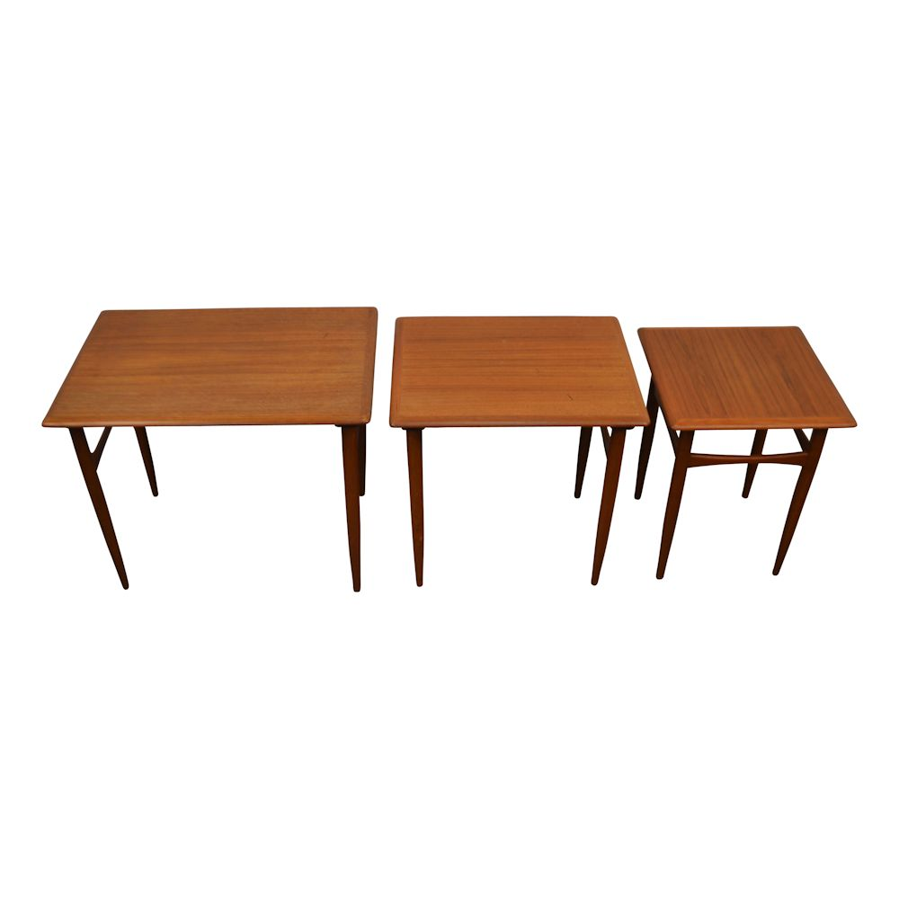 Danish modern Set of 3 Side Tables by Kai Kristiansen