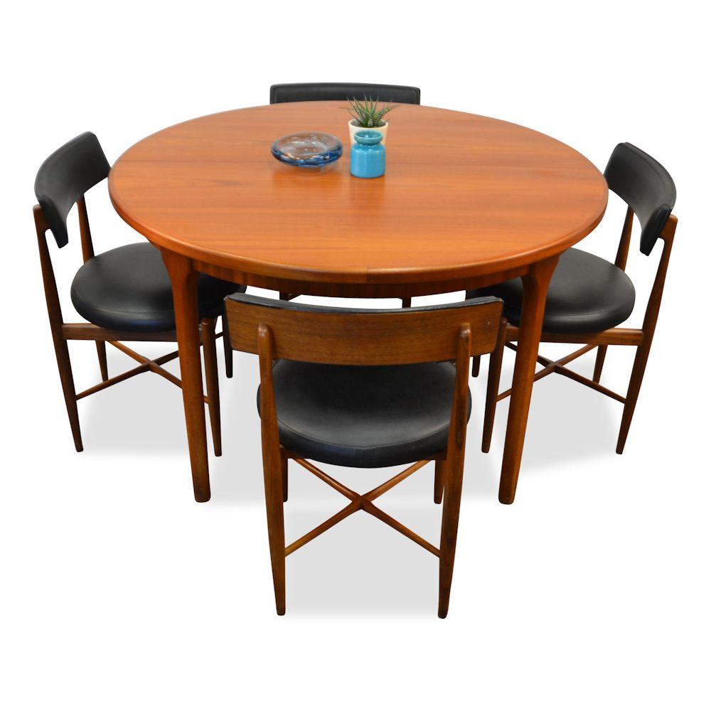 Vintage teak g plan dining set vintage vibes for Modern dining table and chairs set