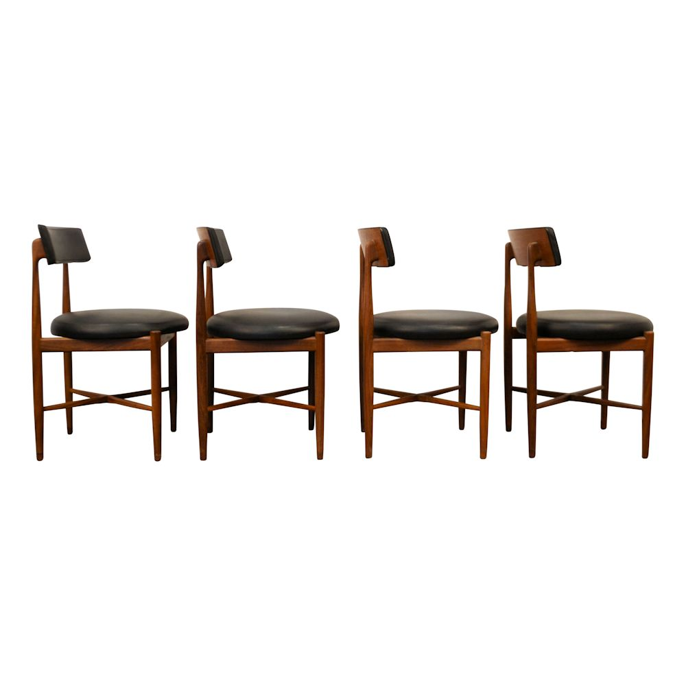Midcentury Modern G-Plan Dining Chairs - side