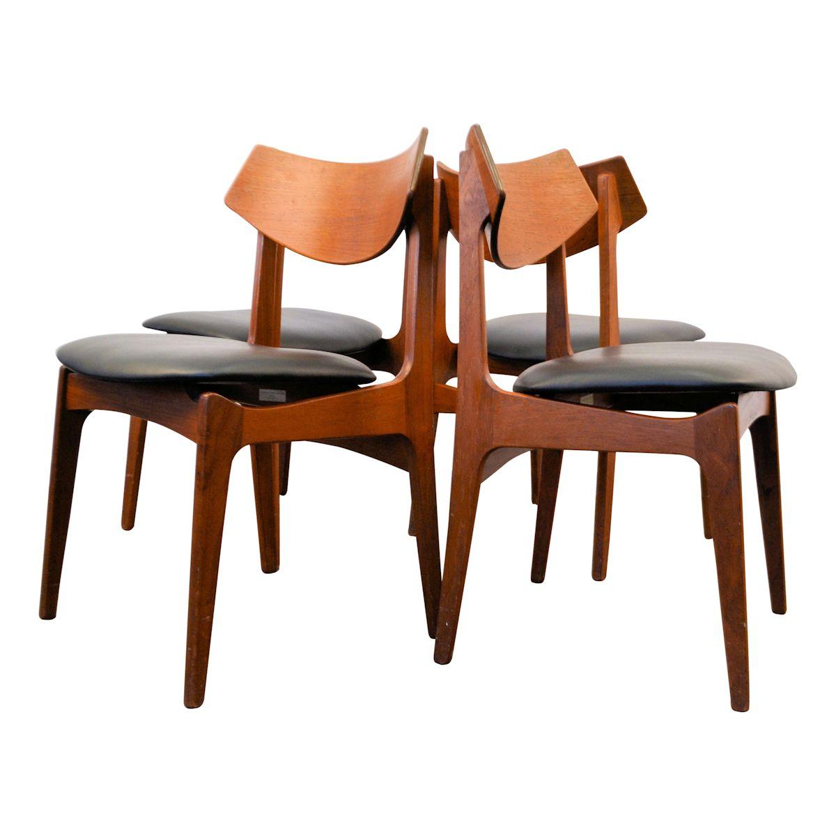 Vintage eetkamerstoelen van Funder-Schmidt & Madsen