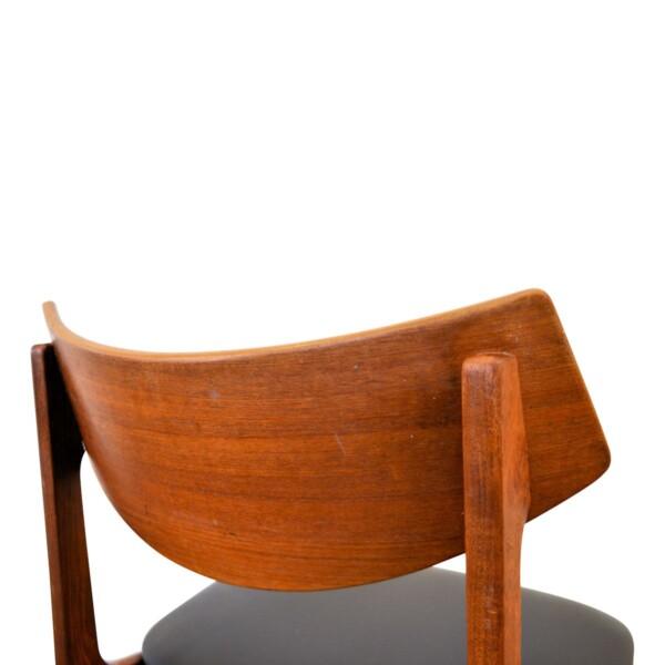 Vintage teak eetkamerstoelen van Funder-Schmidt & Madsen (detail)