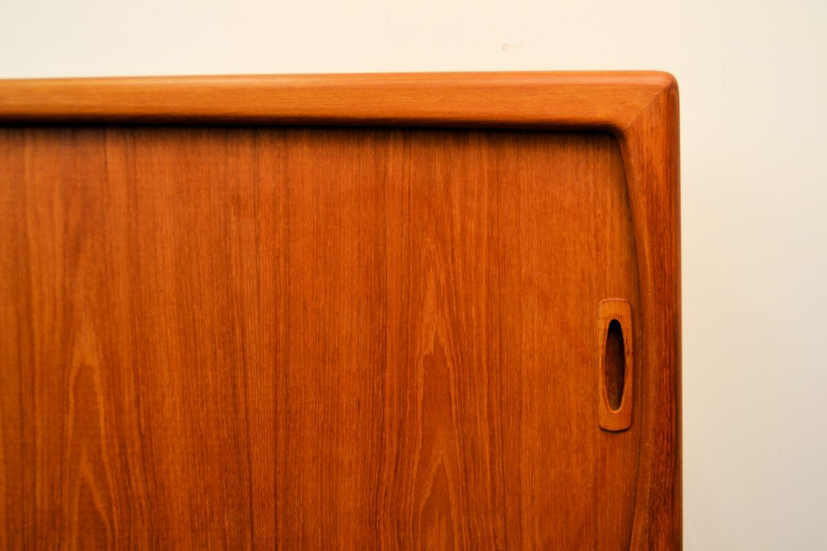 Vintage Danish Modern Teak Sideboard by H.P. Hansen - detail door
