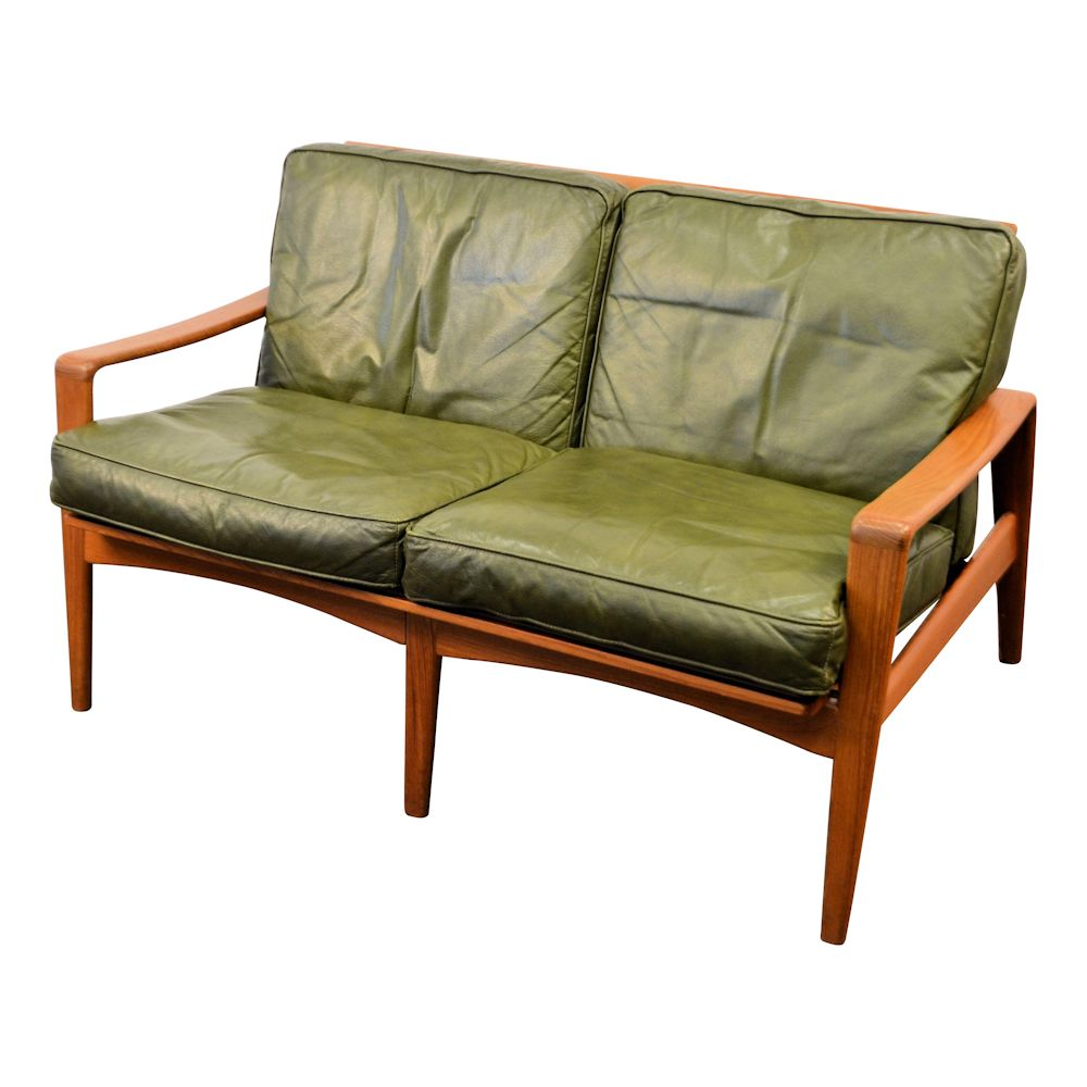 Vintage Mid-century Modern Two-Seater Sofa by Arne Wahl Iversen - side