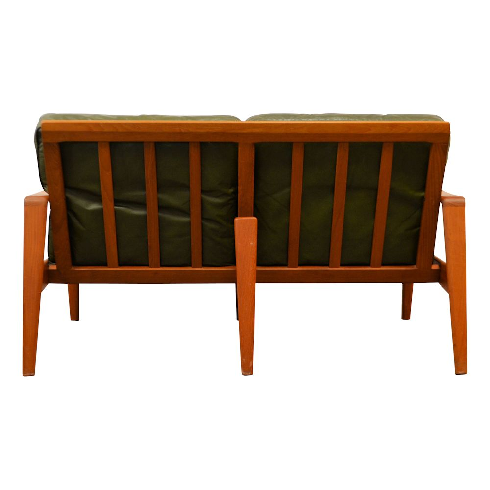 Vintage Mid-century Modern Two-Seater Sofa by Arne Wahl Iversen - back