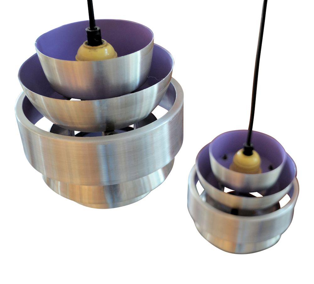 Mid-century Modern Pendant Lamp by Lakro - lilac inside