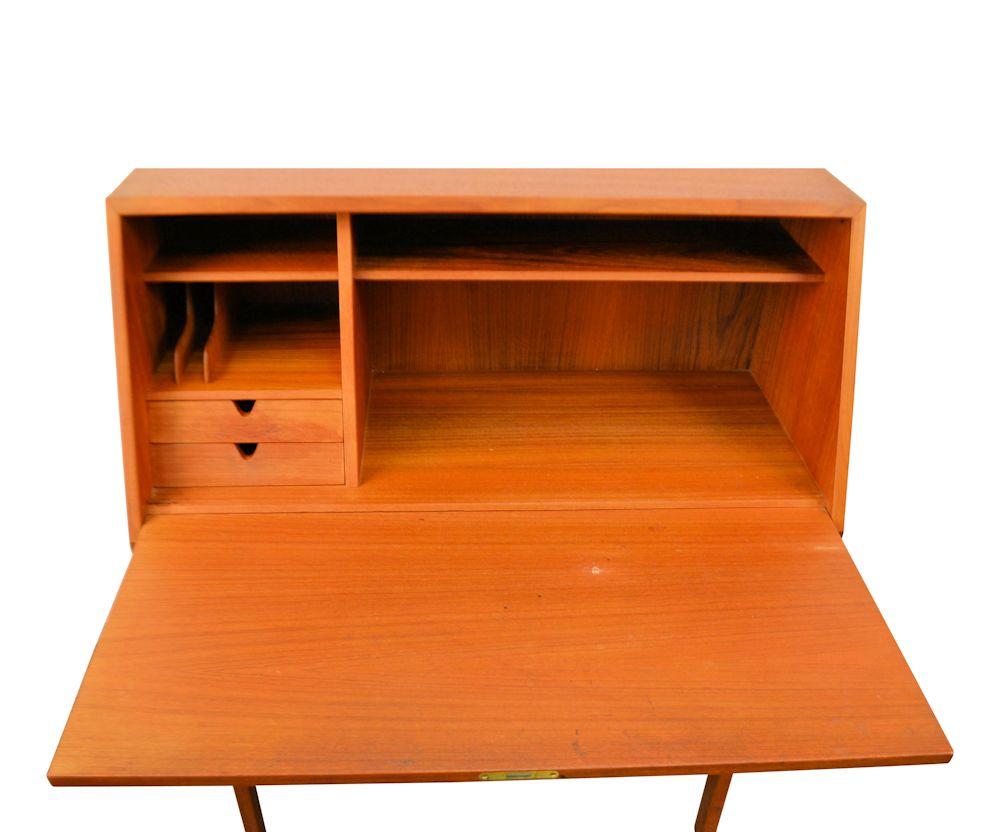 Vintage Arne Wahl Iversen Cabinet Desk Model 68 - open
