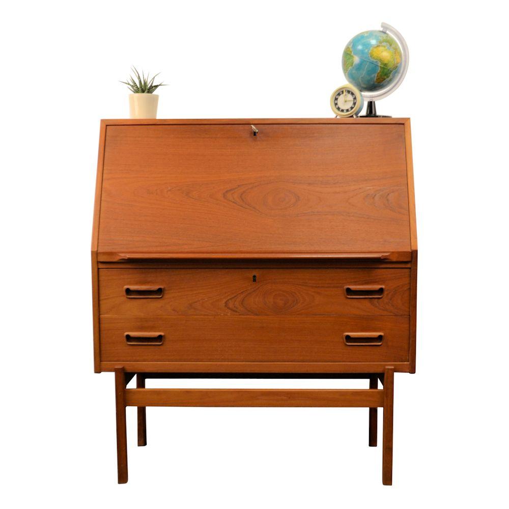 Vintage Arne Wahl Iversen Cabinet Desk Model 68 - front
