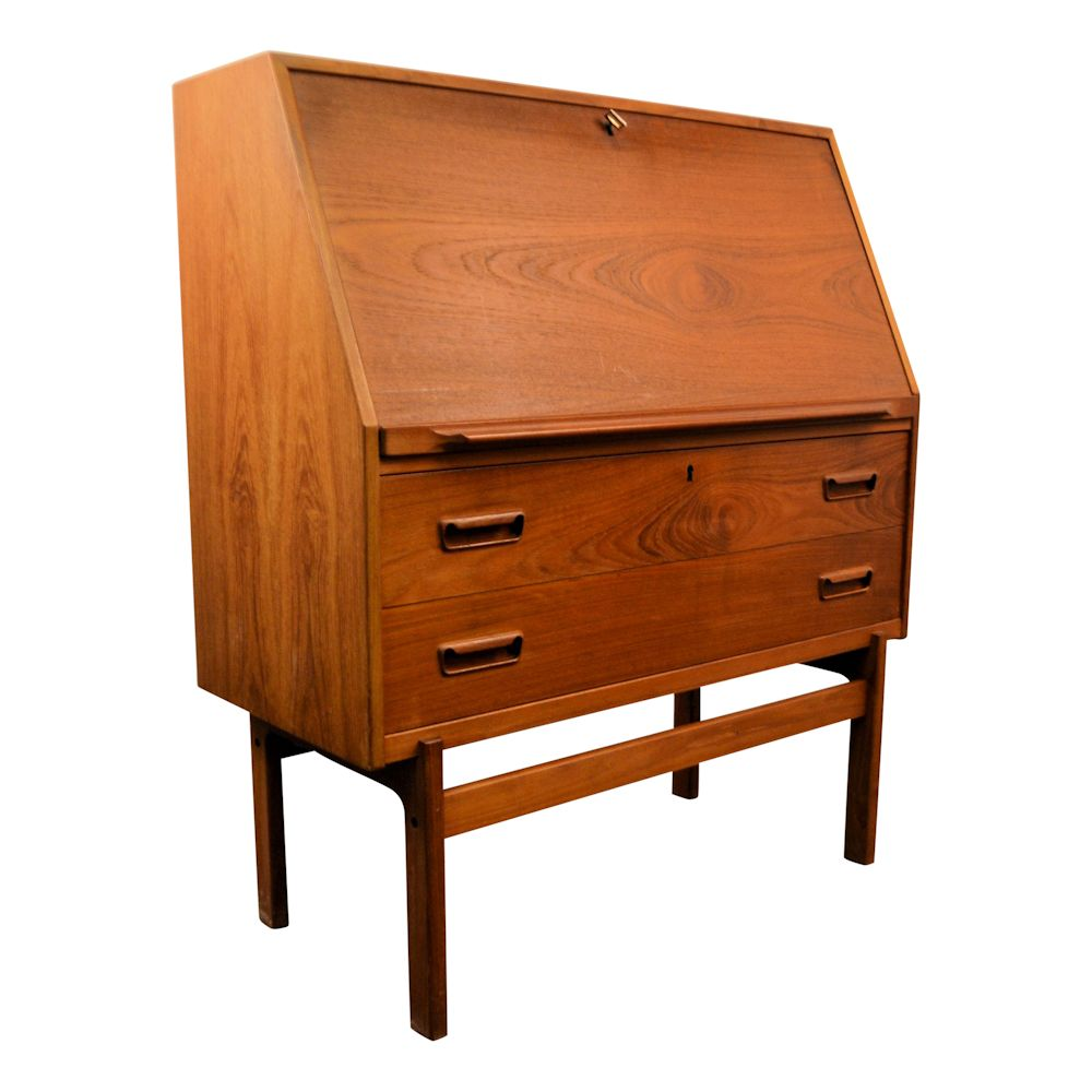 Vintage Arne Wahl Iversen Cabinet Desk Model 68 - side