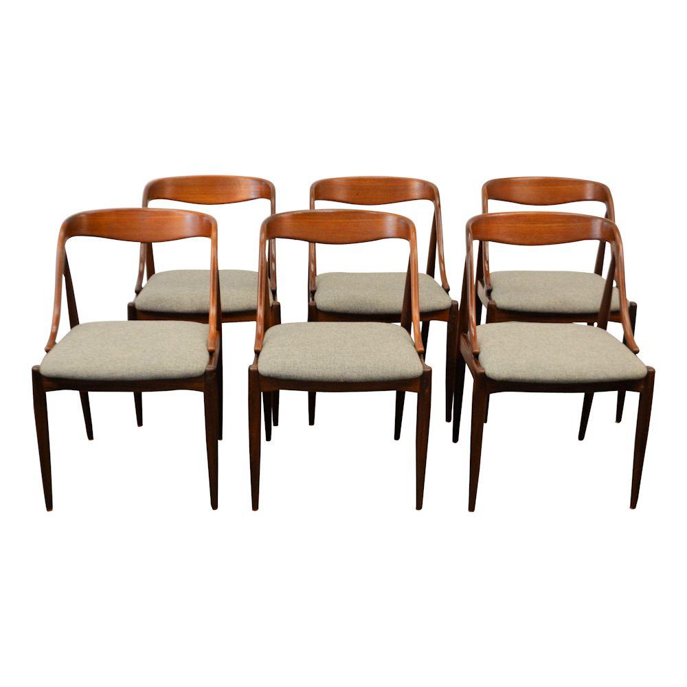 Danish Modern Johannes Andersen Dining Chairs - front