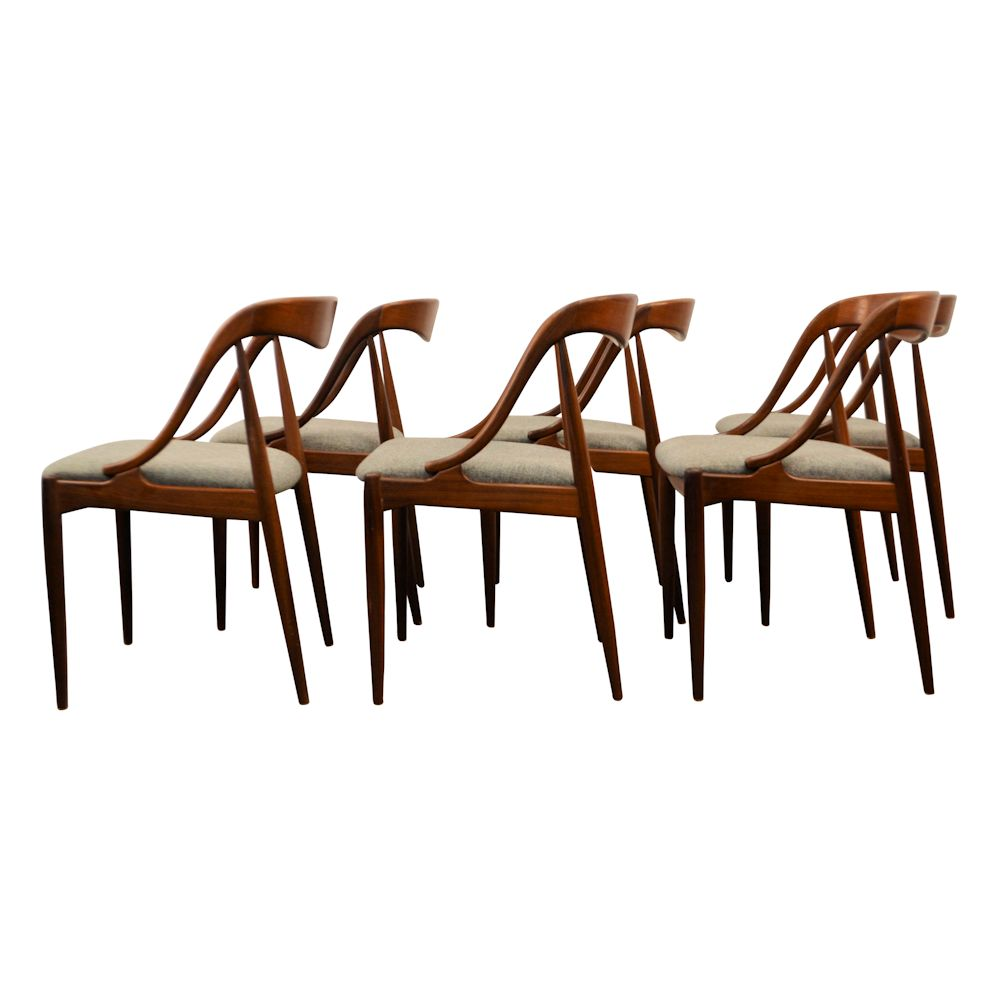 Danish Modern Johannes Andersen Dining Chairs - side