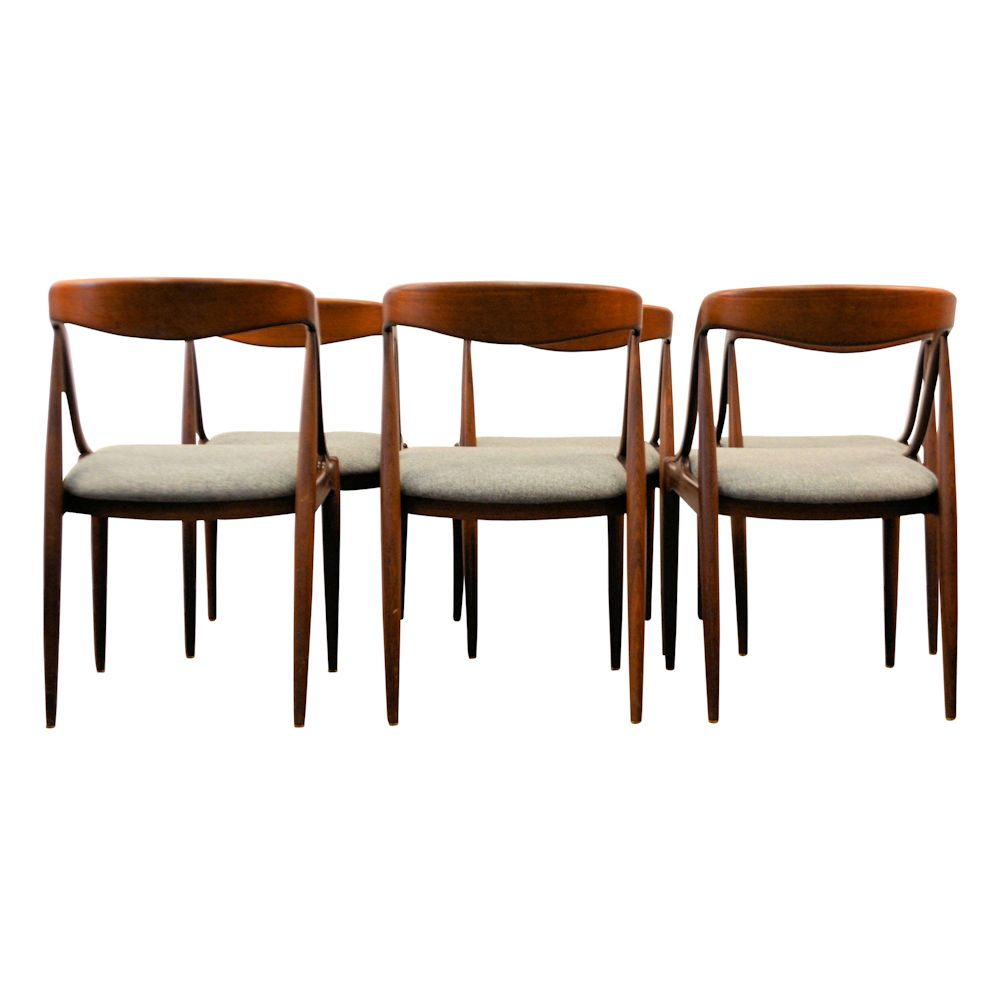 Danish Modern Johannes Andersen Dining Chairs - back