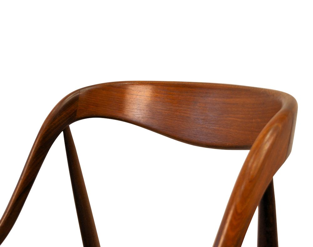 Danish Modern Johannes Andersen Dining Chairs - detail backrest