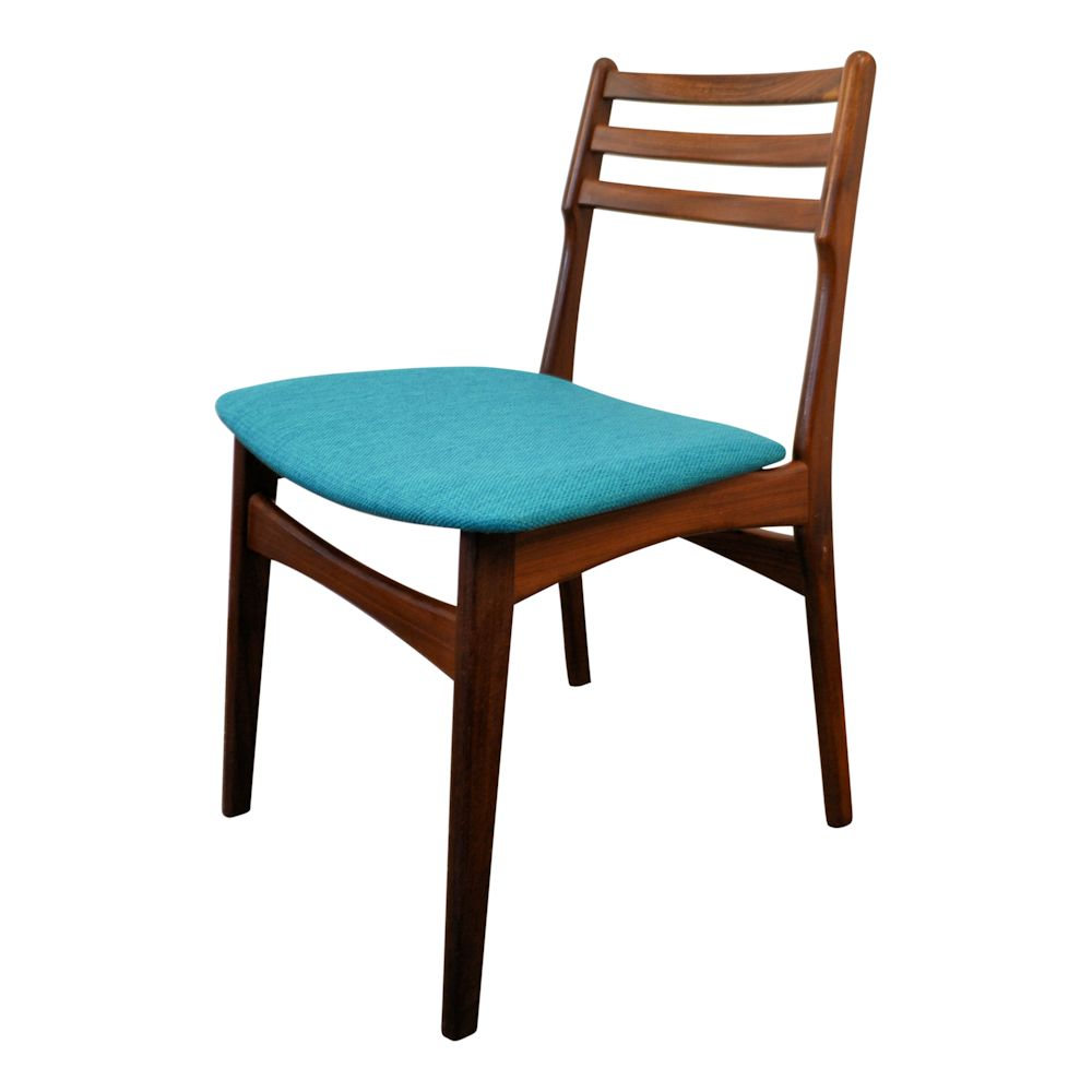 Danish Modern Teak Dining Chairs by R. Borrøgaard