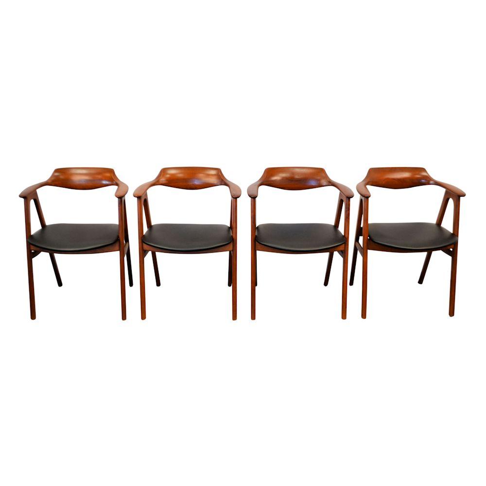 Vintage Erik Kirkegaard teak armleuning stoelen