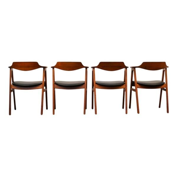 Erik Kirkegaard teak armleuning stoelen