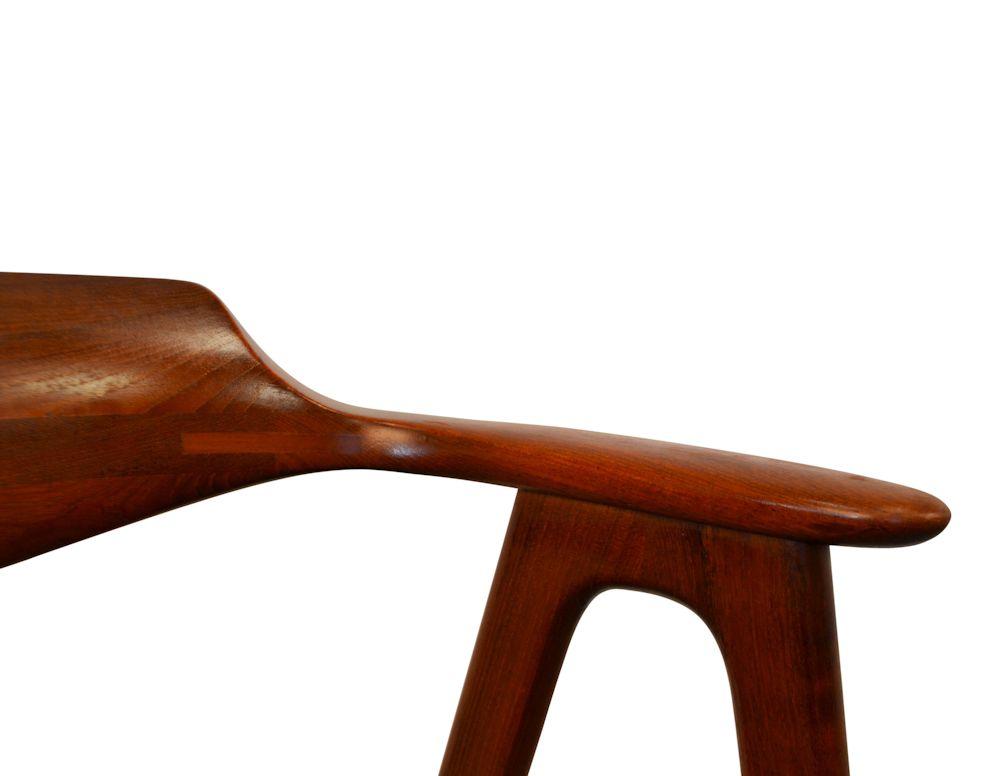 Vintage Erik Kirkegaard teak armleuning stoel (detail)