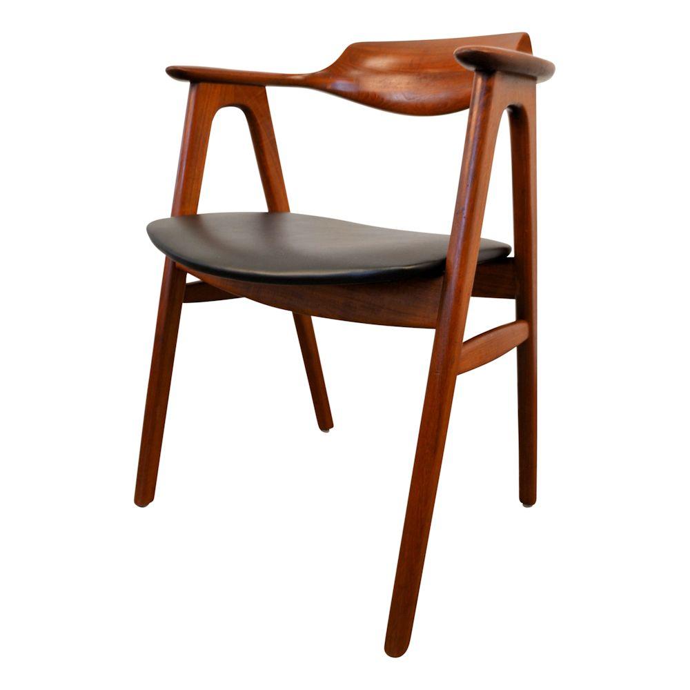 Vintage Erik Kirkegaard teak armleuning stoel