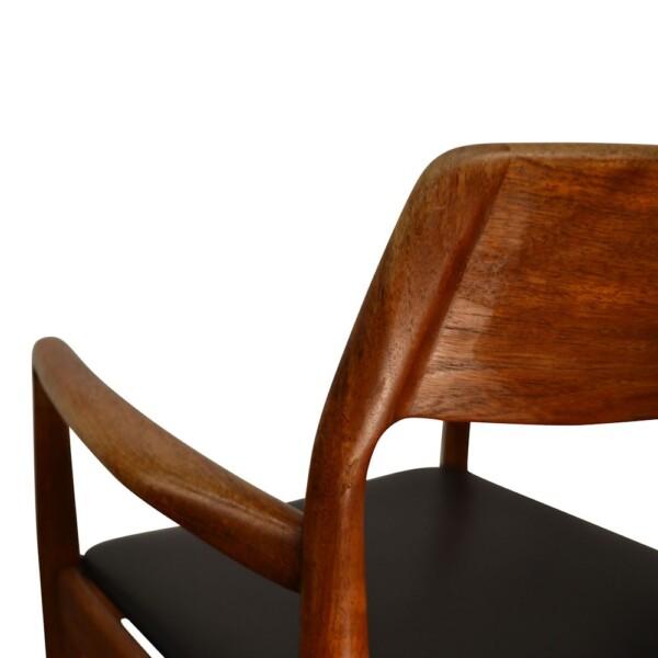Vintage Deens design teak armleuning stoel
