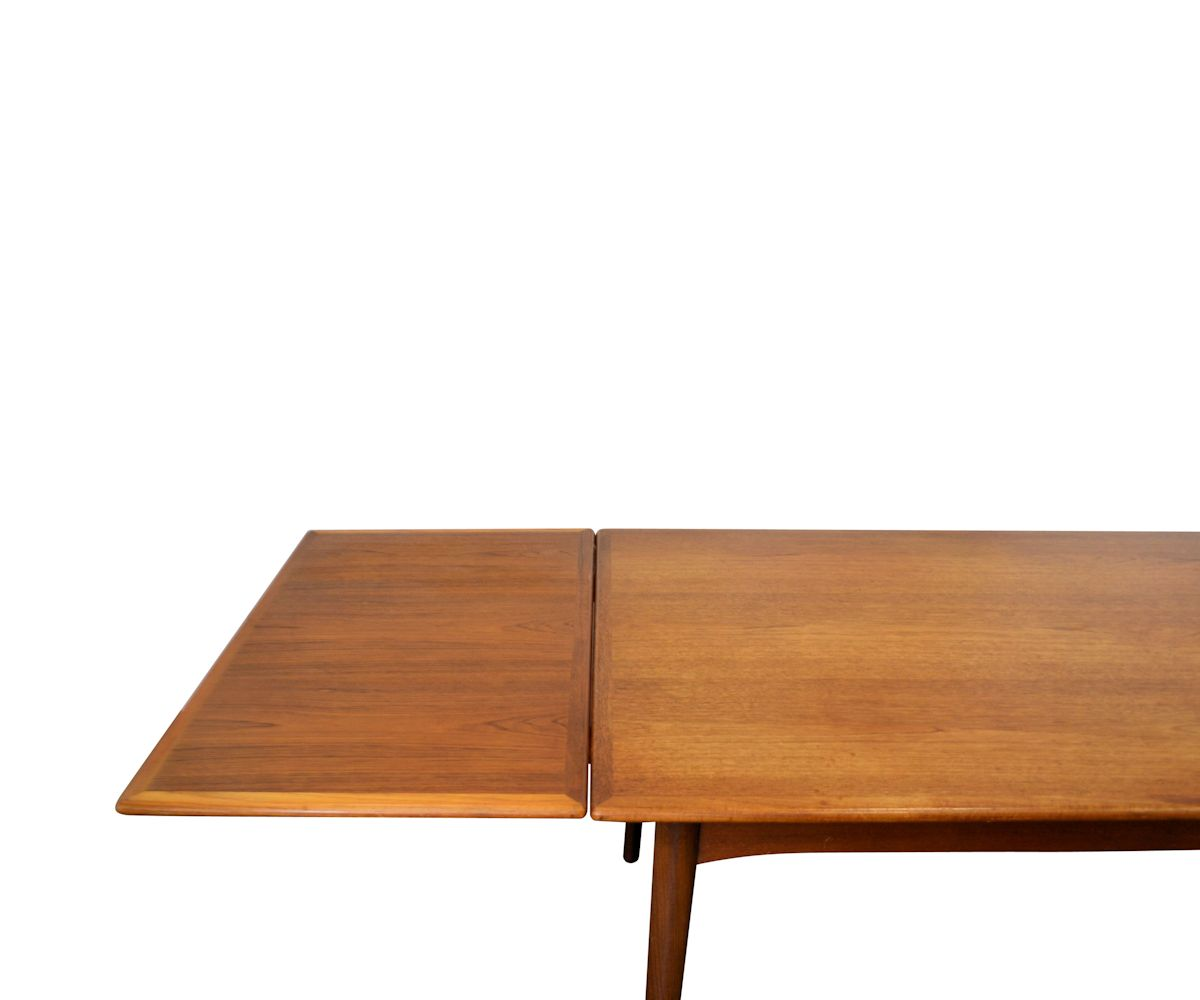 Vintage Deens design teak verlengbare eettafel (detail)