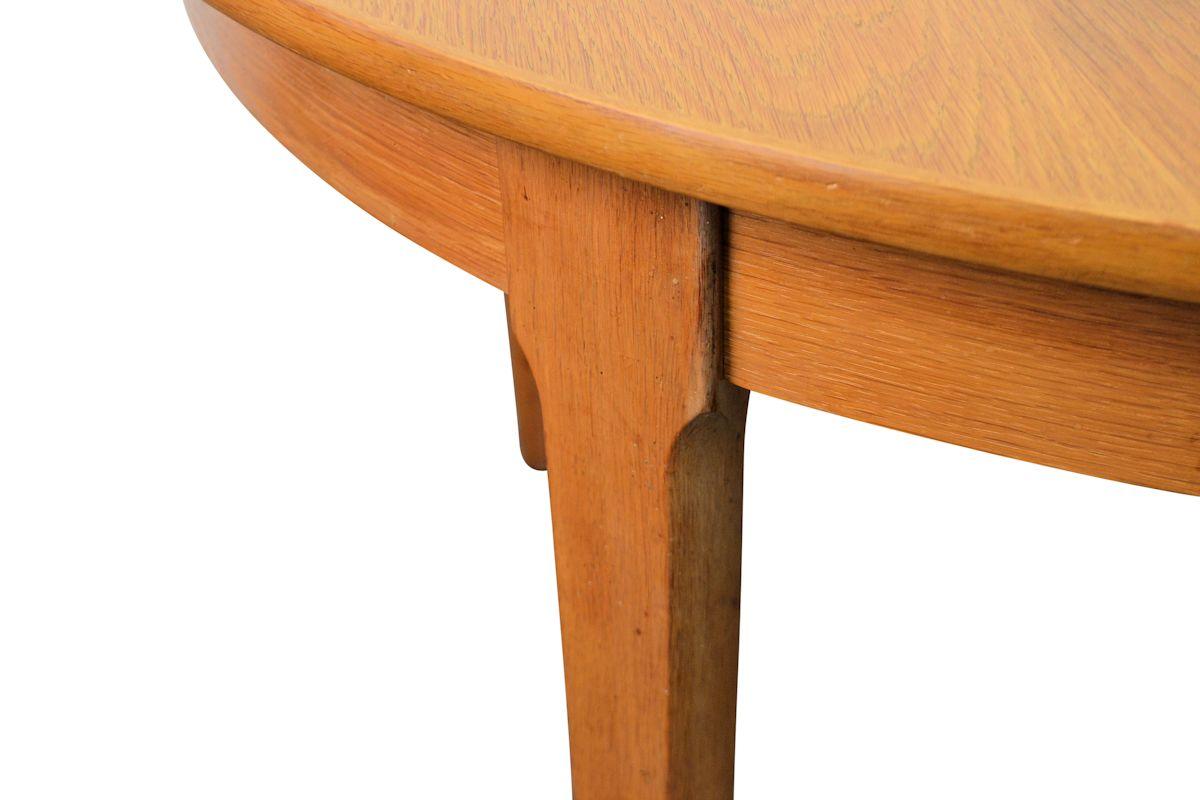 Vintage Deens design eiken verlengbare eettafel (detail)
