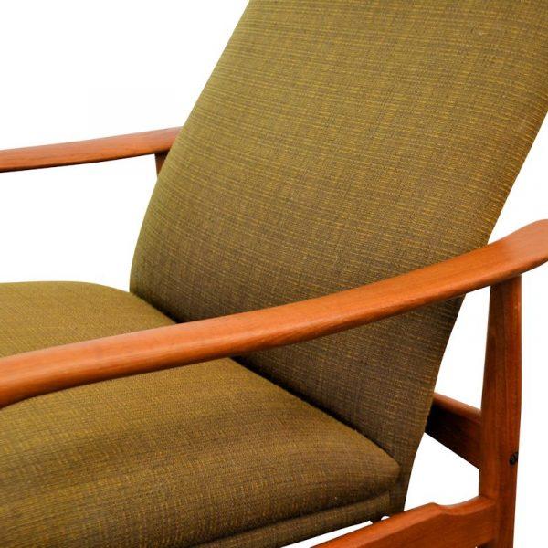 Søren J. Ladefoged teak relax fauteuil (detail)