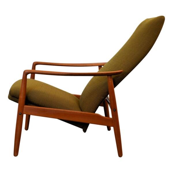 Vintage Søren J. Ladefoged teak relax fauteuil