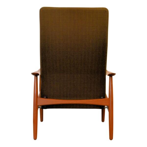 Vintage Søren J. Ladefoged teak relax fauteuil (detail)
