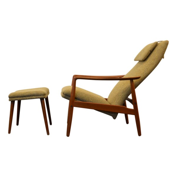Søren Ladefoged teak fauteuil & hocker