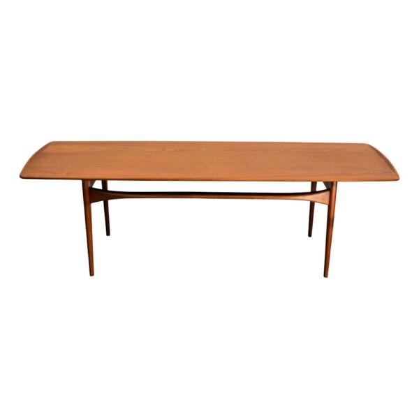 Vintage Tove & Edvard Kindt-Larsen teak salontafel (detail)