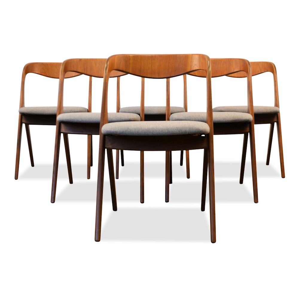 Danish Modern Erik Wørts Dining Chairs - front