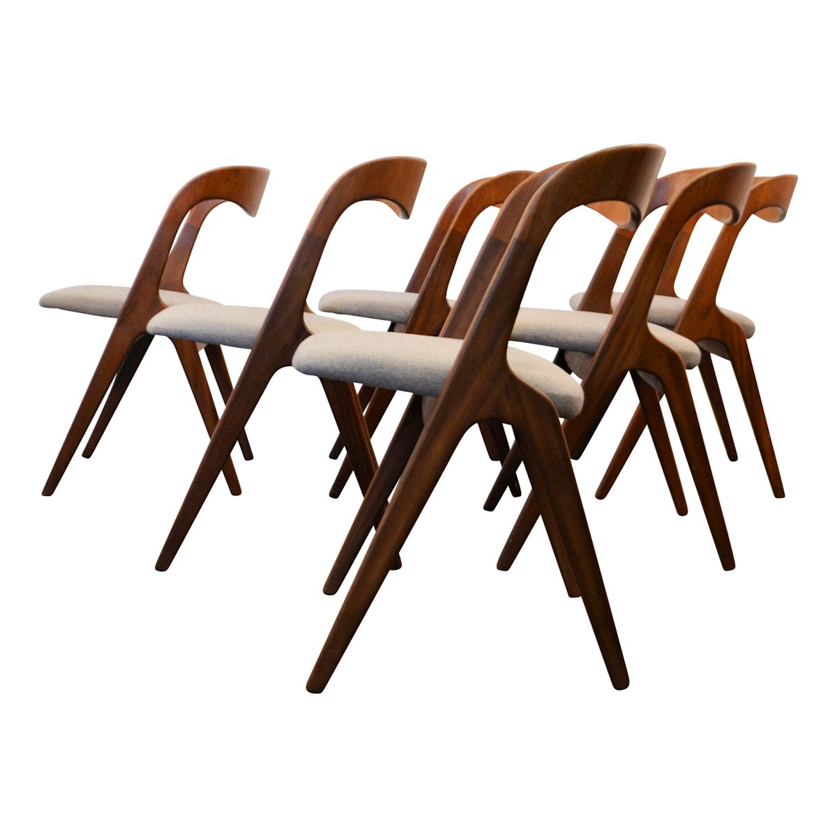 Danish Modern Erik Wørts Dining Chairs - side