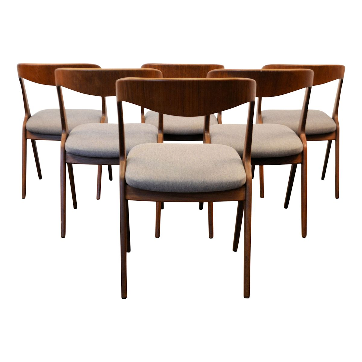 Danish Modern Erik Wørts Dining Chairs - back