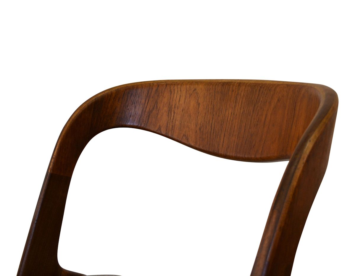 Danish Modern Erik Wørts Dining Chairs - detail backrest