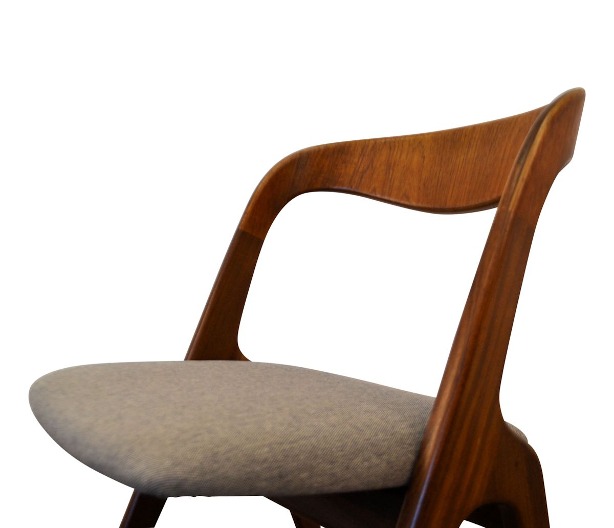 Danish Modern Erik Wørts Dining Chairs - detail seat